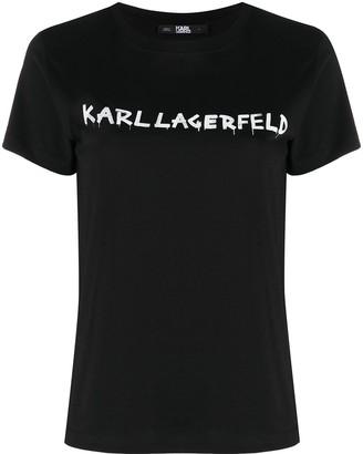 Karl Lagerfeld Paris graffiti logo T-shirt