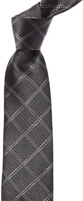 Canali Grey Check Silk Tie
