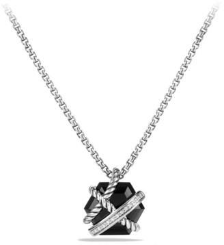 David Yurman Cable Wrap Necklace with Gemstone & Diamonds