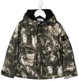 Stone Island Junior Boys Print Padded Jacket