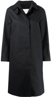 MACKINTOSH DUNKELD Black Bonded Cotton 3/4 Coat | LR-1001D