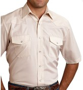 Roper Classic Tone-on-Tone Shirt - Snap Front, Short Sleeve (For Men and Big Men)