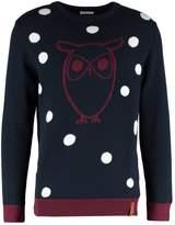 Knowledge Cotton Apparel Owl Jumper Total Eclipse