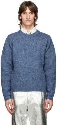 Gucci Blue Wool GG Sweater