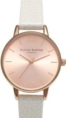 Olivia Burton Olivia Sunray Midi Dial Grey And Rose Gold Watch
