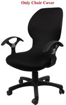 Loghot Pure Color Office Computer Dining Rotating Chair Covers One Piece Universal Lift Chair Slipcovers Pads Covers
