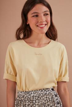 Des Petits Hauts Lemon Kanoe T Shirt - size 0 | cotton | lemon yellow