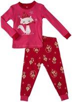 Petit Lem Foxy 2 Piece PJ Set (Baby) - Pink-12 Months