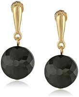 Kenneth Cole New York Black Faceted Bead Drop Earrings