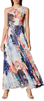 Karen Millen Floral Pleated Maxi Dress, Multi
