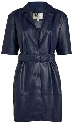 Gestuz Fallyn Belted Leather Dress
