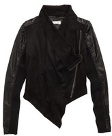 Tractr Girl's Asymmetrical Faux Leather Jacket