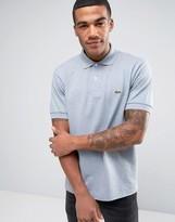 Lacoste Polo Shirt In Gray Marl Regular Fit