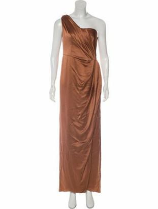 Alberta Ferretti Sleeveless Evening Dress Brown