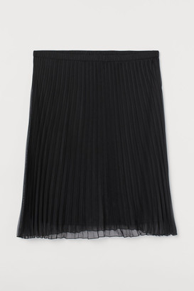H&M H&M+ Pleated Skirt - Black