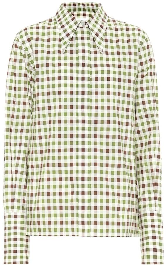 Victoria Beckham Gingham cotton shirt