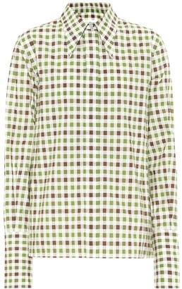 Victoria Beckham Gingham cotton shirt