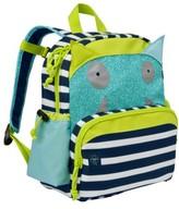 Lassig Toddler Little Monster Glow In The Dark Mini Backpack - Blue