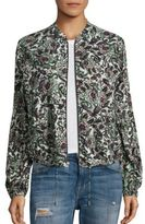 Free People Floral-Print Lantern Sleeve Jacket