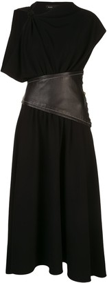 Proenza Schouler Asymmetrical Belted Dress