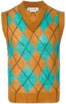 Marni argyle knitted vest