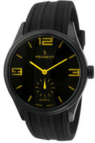 Peugeot Mens Black Silicone Strap Sport Watch