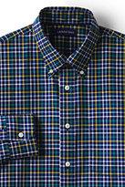 Classic Men's Tailored Fit No Iron Twill Shirt-Eggshell Tattersall