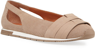 Gentle Souls Luca Cutout Perforated Leather Comfort Flats