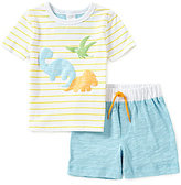 Starting Out Baby Boys 12-24 Months Dinosaur-Appliqued Short-Sleeve Tee & Shorts Set