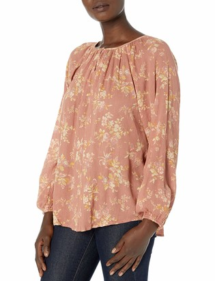 Chaps Women's Bishop Sleeve Relaxed Fit Silhouette Cotton Shirt