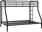 DHP Dorel Home Products Twin-Over-Full Bunk Bed, Black