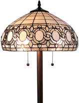 AMORA Amora Lighting AM232FL16 tiffany style floral white floor lamp 62 in high
