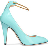 Gucci Patent-leather Pumps - Turquoise