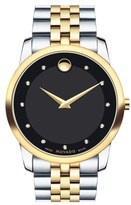 Movado 'Museum' Bracelet Watch, 40mm