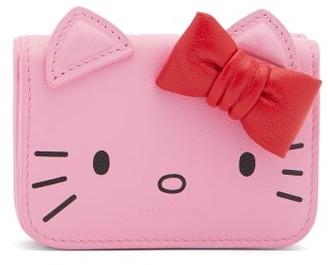 Balenciaga Hello Kitty Leather Wallet - Womens - Pink Multi