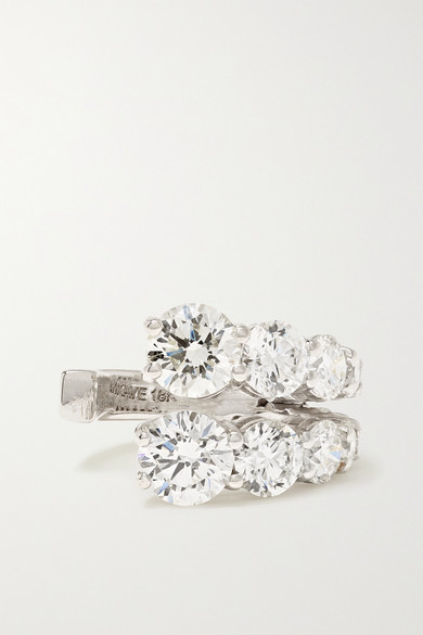 Melissa Kaye Aria 18-karat White Gold Diamond Ear Cuff