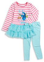 Nannette Girls 2-6x Dory Dress and Leggings Set
