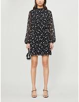 Ted Baker Floelle polka dot crepe mini dress