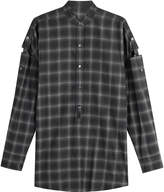 Helmut Lang Wool Shirt with Cut-Out Detail on Sleeves