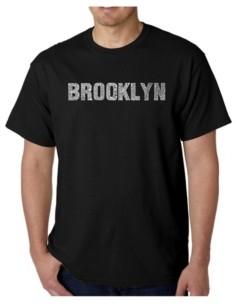 LA Pop Art Mens Word Art T-Shirt - Brooklyn Neighborhoods