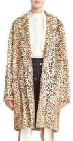 Ellery 'Mariel' Leopard Print Genuine Goat Fur Coat