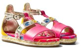 Diesel Gold and Pink Espadrille Sandals