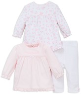 Little Me Infant Girls' Dainty Three Piece Tunic & Leggings Set - Sizes Newborn-9 Months