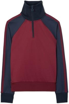 Tory Burch Color-Block Half-Zip Pullover