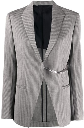 Alyx Striped Chain-Embellished Blazer
