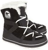 Sorel Black Glacy Explorer Shortie Boots