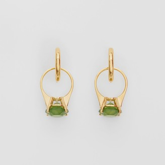 Burberry Crystal Ring Detail Gold-plated Hoop Earrings