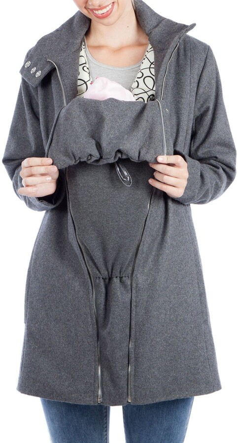 Thumbnail for your product : Modern Eternity A-Line Convertible 3-in-1 Maternity Swing Coat