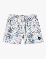 Colorful War Swim Short in Multi
