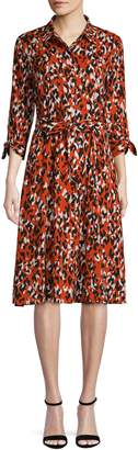 Calvin Klein Multicolour Animal-Print Shirtdress
